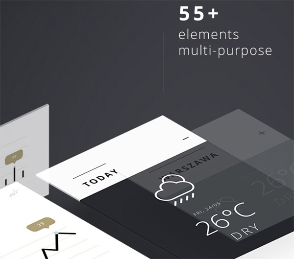 55+ Web Elements Free UI Kit