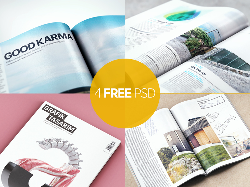 Magazine Mock Up Pack