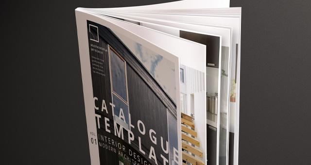 Free Modern Catalog Magazine Template