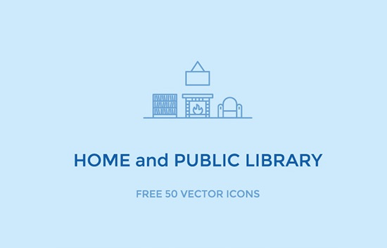 50 Free Home & Library Icons