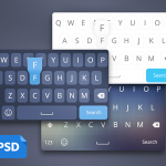 iOS8 Keyboard PSD
