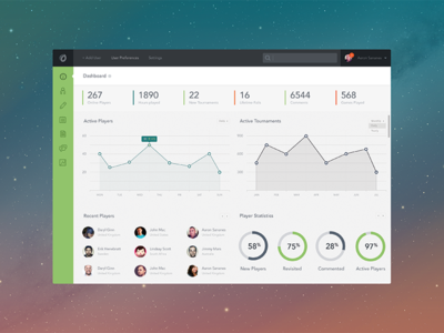 Website Backend Dashboard PSD
