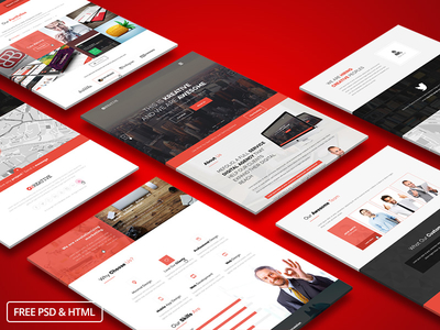 KreFolio – PSD & HTML Template to Showcase Your Portfolio