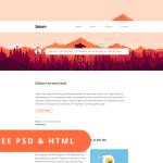 Saturn – Free PSD & HTML Blog Template
