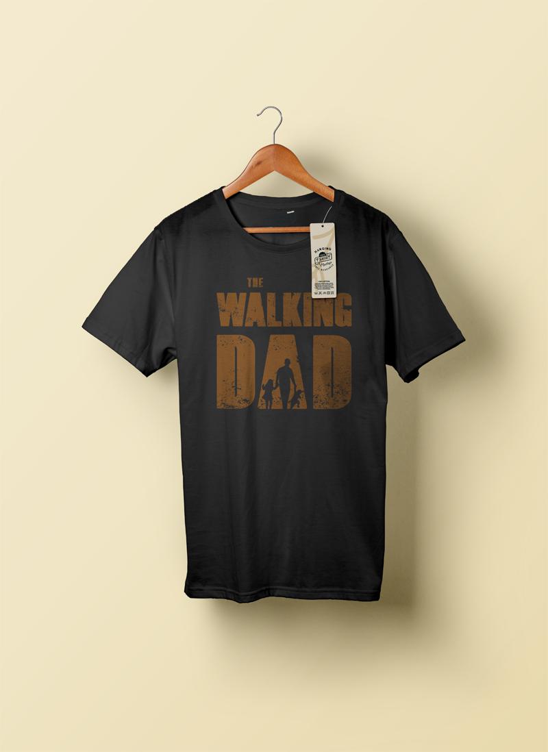 The Walking Dad tshirt mockup